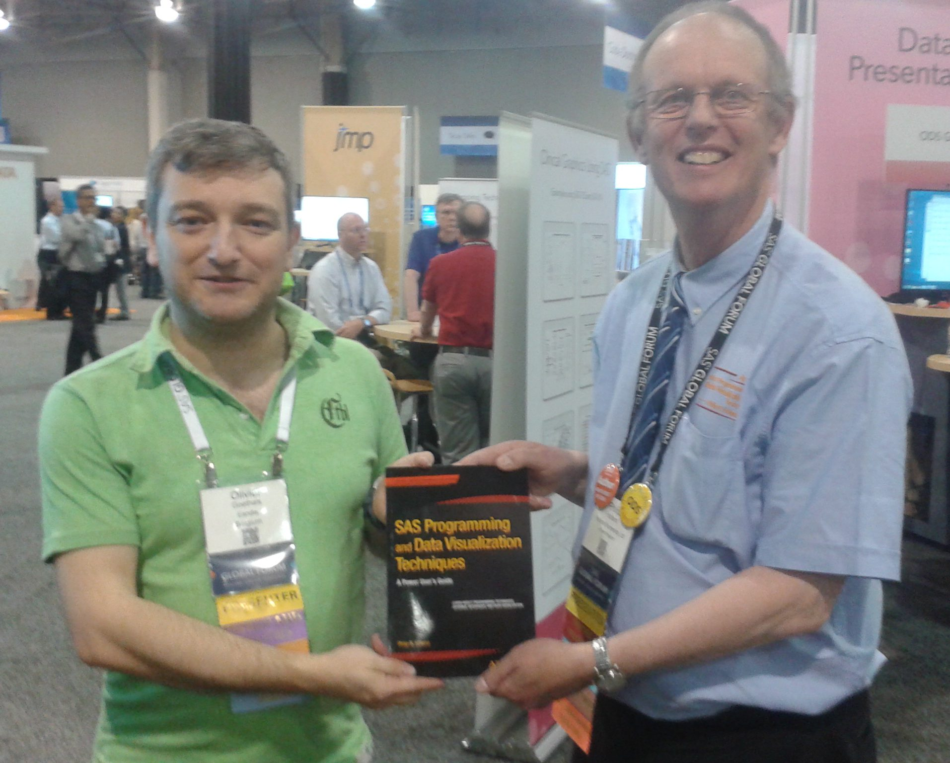 Congratulations to Olivier Goethals who won my new book in the Prize Draw at SAS Global Forum in Las Vegas