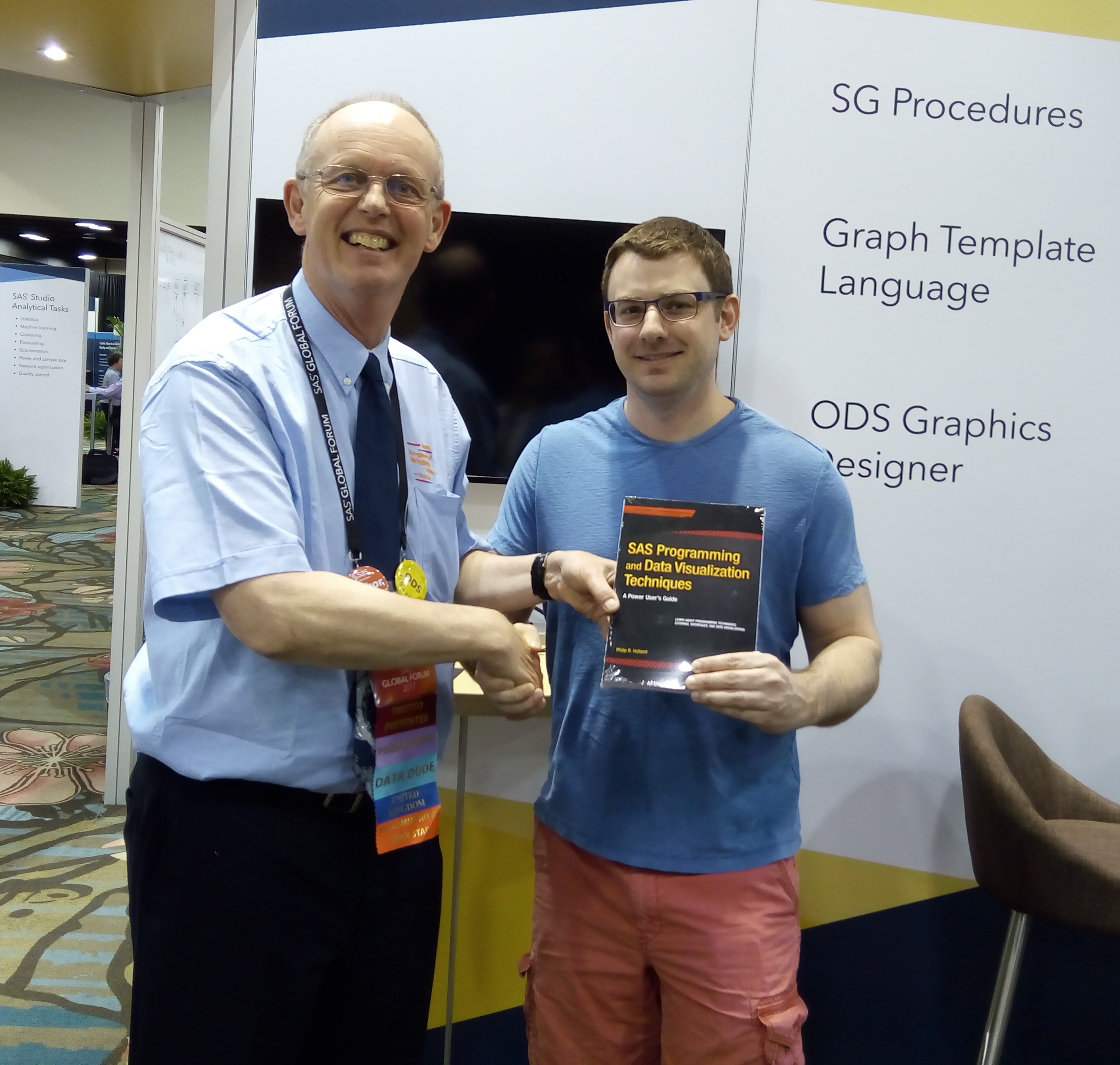 Matthew Hoolsema won a copy of my book in Orlando