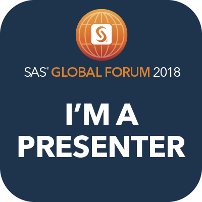 Are you going to SAS Global Forum in Denver? I'm presenting there!